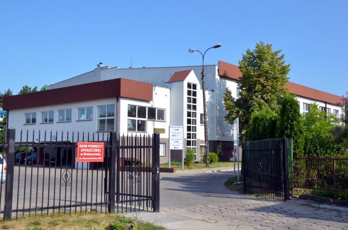 Dom Pomocy Społecznej w Białymstoku - Wjazd na teren Domu